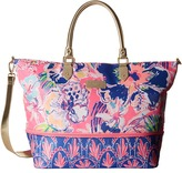 Lilly Pulitzer Expandable Weekender Travel Tote
