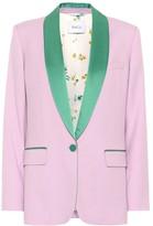 Racil James wool and satin tuxedo jacket