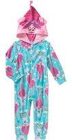 Dream Works Trolls Poppy Toddler Girl Zip-UP Fleece Hooded Blanket Sleeper