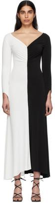 A.W.A.K.E. Mode Black and White Fluted Maxi Dress