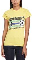 Football Fan Women's Australia Stripes Regular Fit Short Sleeve T-Shirt