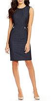 Calvin Klein Sleeveless Luxe Stretch Dressy Denim Suiting Sheath Dress