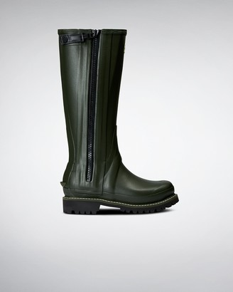 Hunter Women's Balmoral Full Zip Leather Lined Tall Wellington Boots