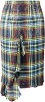 Marco De Vincenzo tartan checked skirt - women - Cotton/Polyester - 40