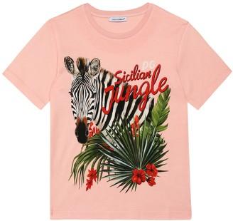 Dolce & Gabbana Kids Printed cotton-jersey T-shirt