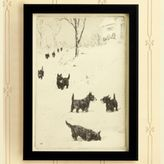Ballard Designs Scotties in the Snow Print