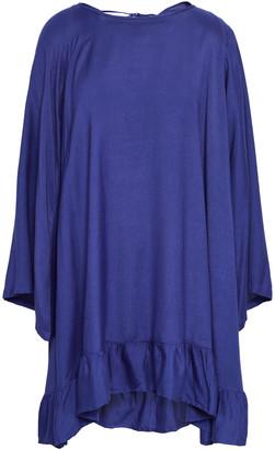SUNDRESS Indiana Tasseled Metallic Striped Cotton-gauze Mini Dress