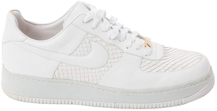 Nike Air Force 1 leather low trainers