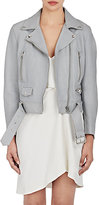 "Acne Studios Women's Leather ""Mock"" Moto Jacket-LIGHT PURPLE"