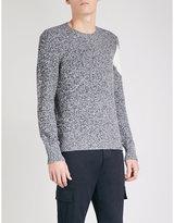 Moncler Gamme Bleu Chevron-panel wool jumper