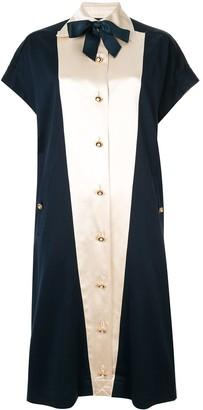 Chanel Pre Owned Pearl Button Midi Dress