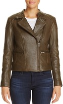Cupcakes And Cashmere Chaney Leather Moto Jacket