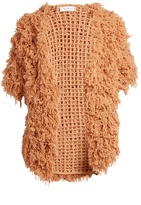 RYAN ROCHE Open-front looped-cashmere cardigan