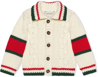 Gucci Kids Baby cable knit cotton cardigan
