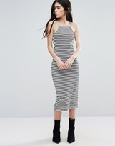 Brave Soul Stripe Midi Dress