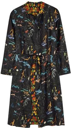 La Prestic Ouiston Fly Printed Reversible Silk Coat