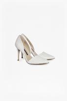 Elvia Perforated Leather Heels