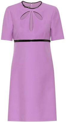 Gucci Silk and wool-crepe minidress