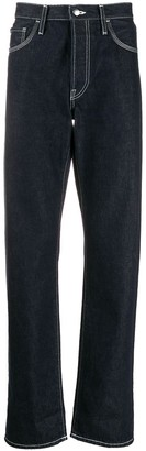 Acne Studios Face-Patch Straight-Leg Jeans