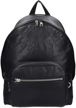 Neil Barrett Backpack In Black Leather