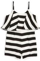 Milly Minis Girl's Stripe Romper