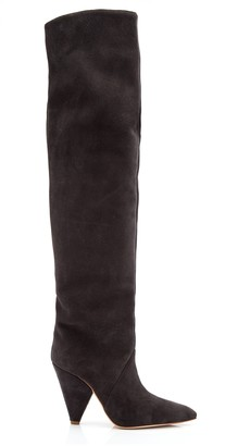 grey suede over the knee boots  shop the world's largest