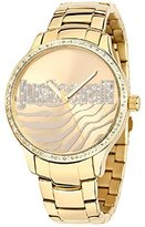 Just Cavalli Women's Huge Yellow Gold Ion-Plated Coated Stainless Steel Swarovski Crystal Watch