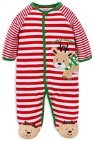 Little Me Infant Boys' Reindeer Stripe Footie - Sizes 3-9 Months