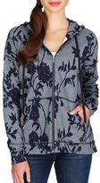 Lucky Brand Floral Patterned Hoodie