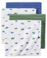 Carter's 4-Pack Dino Receiving Blankets in Blue/Green
