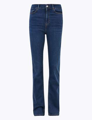 Per UnaMarks and Spencer High Waist Slim Fit Flared Jeans
