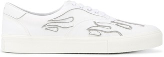 Amiri Flames-Applique Low-Top Sneakers