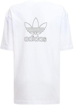 adidas Back & Front Print Trefoil T-Shirt