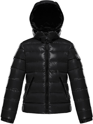 Moncler Bady Laque Mini Me Quilted Hooded Puffer Jacket, Size 8-14