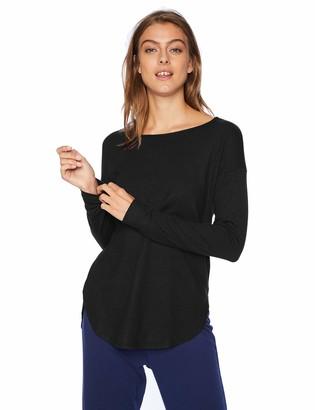 N Natori Women's Sweater Knit Jersey Top W Black X-Small