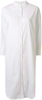 Aspesi Striped Shirt Midi Dress