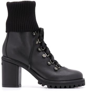 Le Silla Block Heel Ankle Biker Boots
