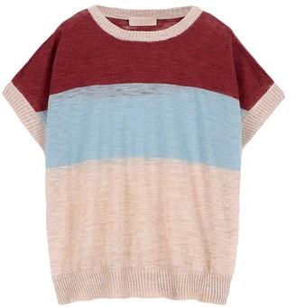Momoni Caserta sweater in striped slubbed linen