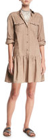 Brunello Cucinelli Western-Style Cotton Shirtdress