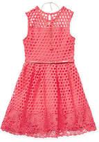 Knitworks Knit Works Skater Dresses - Little Kid / Big Kid Girls Belted Sleeveless Skater Dress