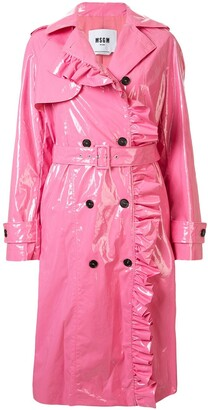 MSGM Ruffle-Trimmed Trench Coat