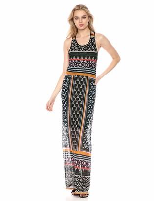 BCBGMAXAZRIA Azria Women's Mixed Print Lace Maxi Dress