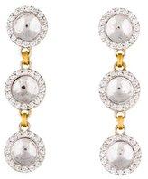 Gurhan 18K Triple Drop Hourglass Diamond Earrings