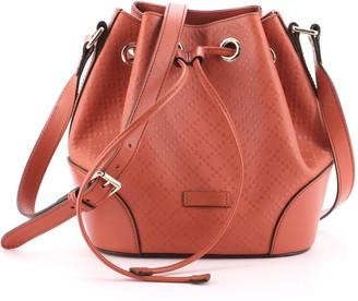 Gucci Bright Bucket Bag Diamante Leather Small