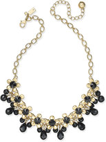 Kate Spade Sunset Blooms Gold-Tone Crystal Garland Necklace