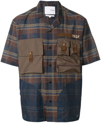 Yoshio Kubo Short Sleeve Checked Utility Shirt