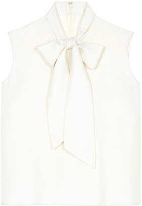 Lindsay Nicholas New York Bow Blouse In White