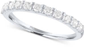 Forever Grown Diamonds Lab-Grown Diamond Anniversary Ring (1/2 ct. t.w.) in Sterling Silver