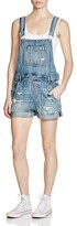 Blank NYC BLANKNYC Distressed Denim Shortalls in Fling Cleaning
