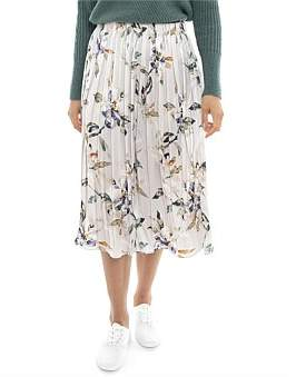 Jump Watercolour Floral Pleated Skirt